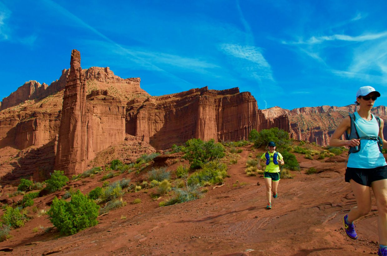 The famous Fisher Towers trail in Moab has some stunning views.