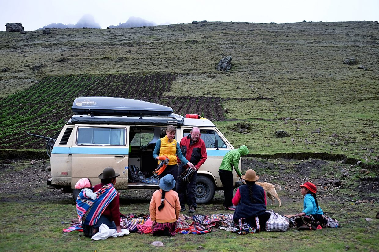 In the mountains of Peru, where a search for a campside turned into an unexpected market.
