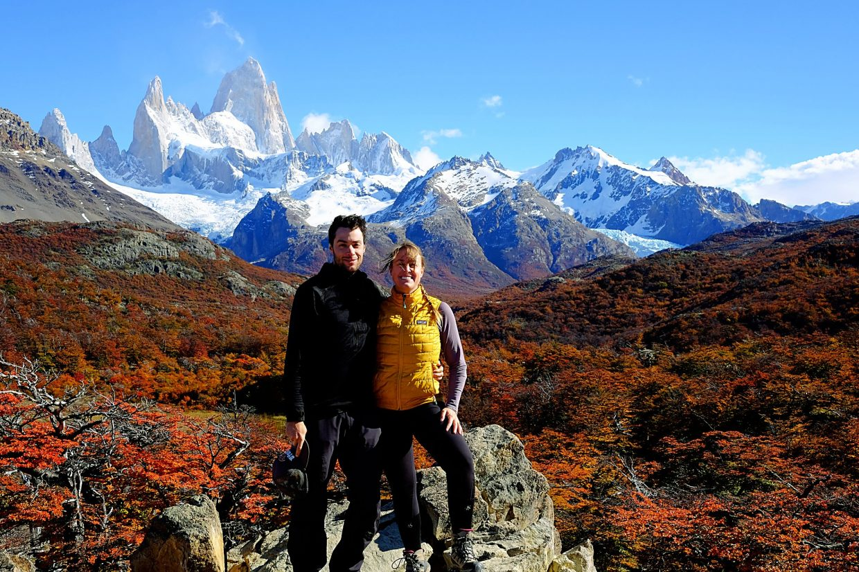 George and Rachel at Mt. Fitz Roy in Argentina.