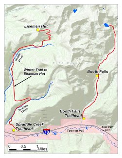 James McGrogan was just a mile and a half from the Booth Falls trailhead when he fell to his death. However, he was four and a half miles east of the trail to Eiseman Hut, where he was supposed to be.