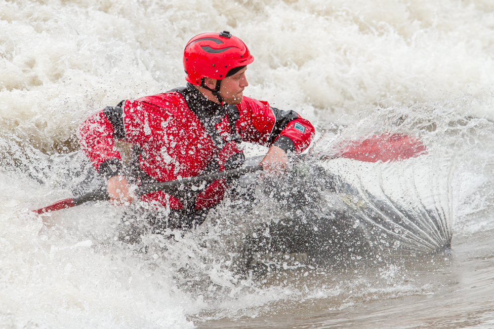 Kayaker Wesley Shelmire of Carbondale spent the afternoon riding the waves at the Glenwood Springs White Water Park on Friday. Water levels have been noticably rising in the Colorado and Roaring Fork Rivers as the snow begins to melt in the flat tops and higher elevations.