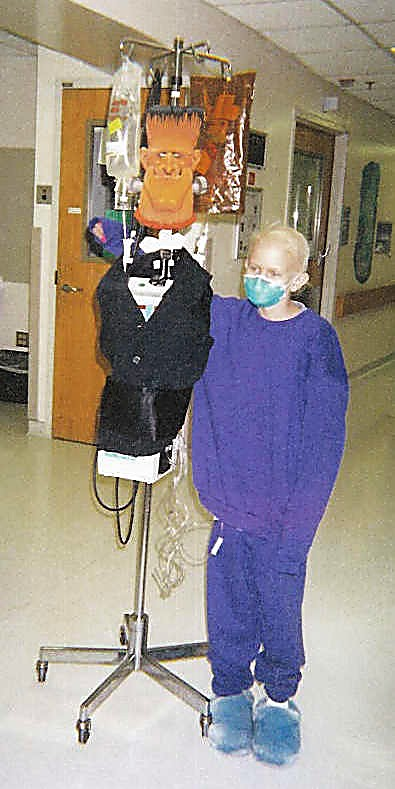 Kelsey Bohman, then 11, during her leukemia treatment.