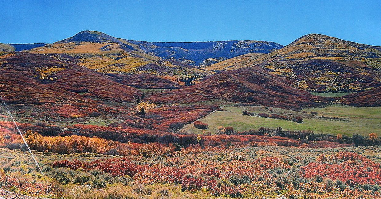 West Salt Creek area in full autumn colors before the slide.
