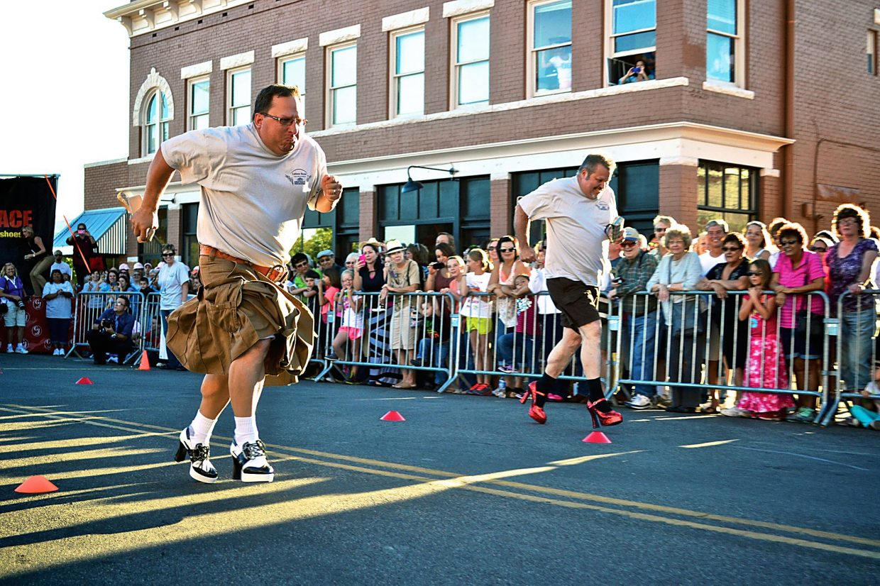 Dozens of teams will sport high heels as part of the Men in Heels Race set for Thursday, Sept. 25, at 6 p.m.