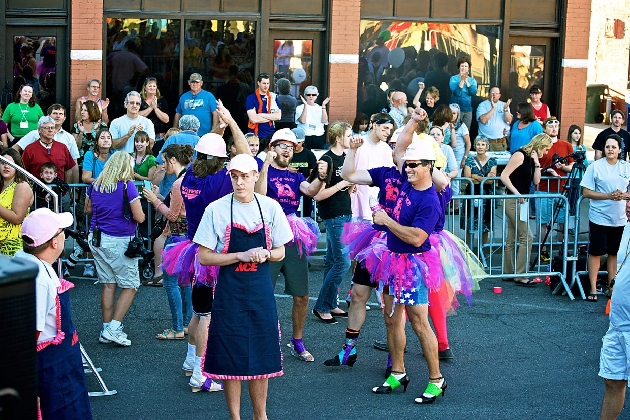 Men don tutus, aprons, dresses and high heels in support of Latimer House's annual Men in Heels Race. This year's event is set for Thursday, Sept. 24, at 6 p.m.
