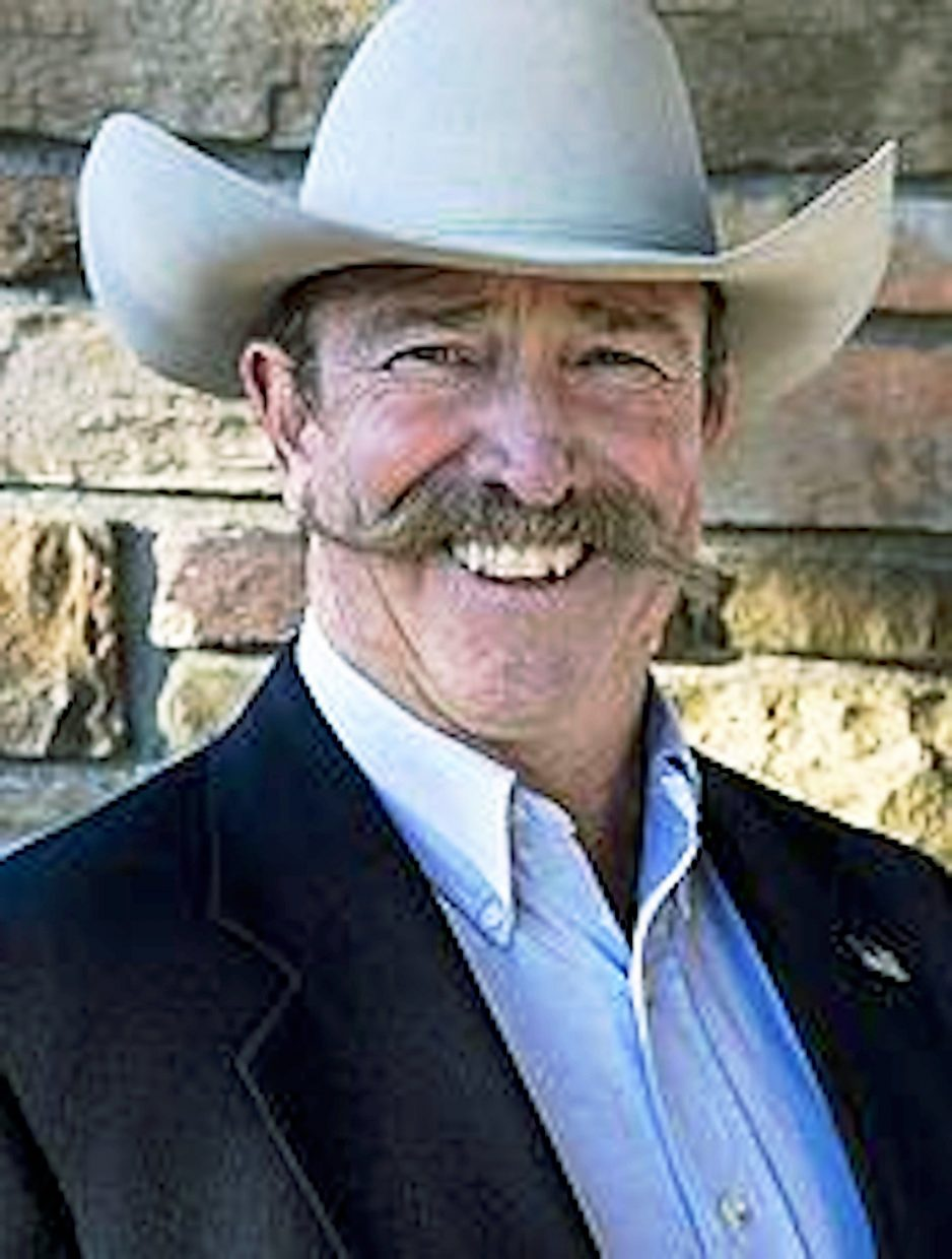 Ken Brownlee, Grand Junction Lions Club member and candidate for Mesa County Assessor, plans to dye his moustache for extra donations for the Men in Heels race on Thursday, Sept. 25.