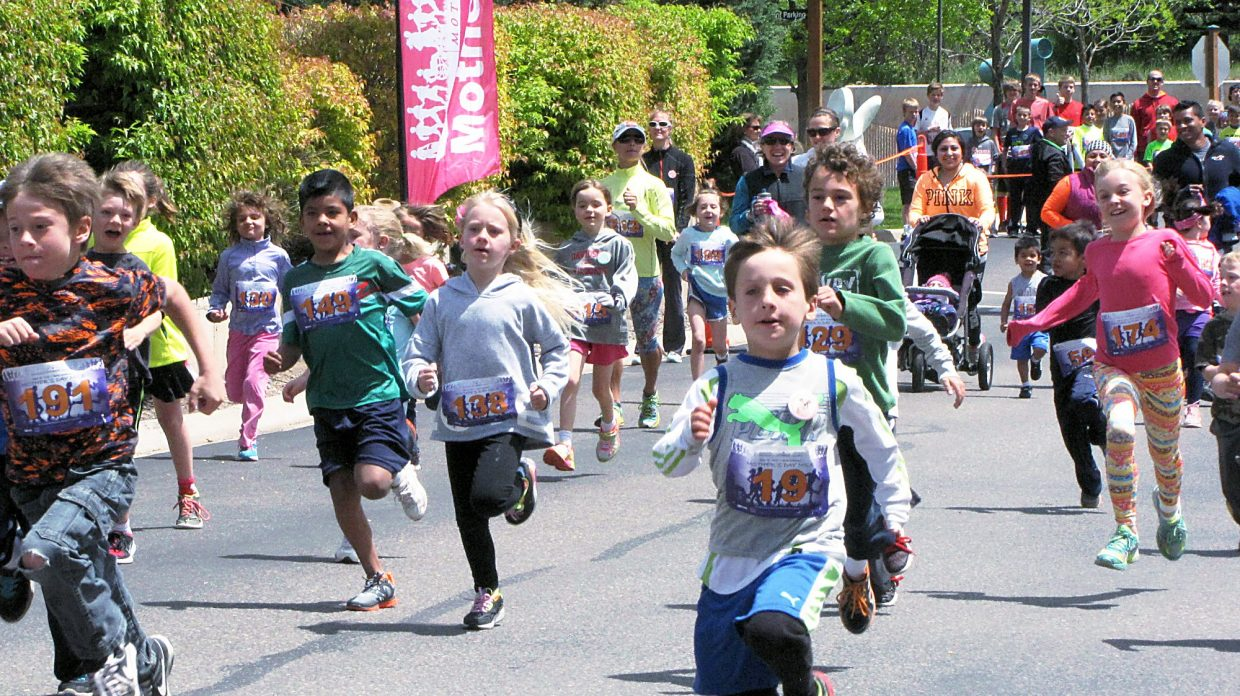 The youngest runners take off Sunday in the Mother's Day Mile in Glenwood Springs. The annual race benefits the domestic and sexual violence programs of Advocate Safehouse Project.