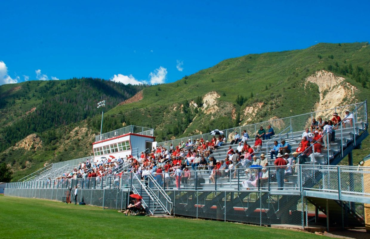 The stands were full of the Demons' signature red and black on Sunday for Coach Don Miller's memorial at Glenwood Springs High School.