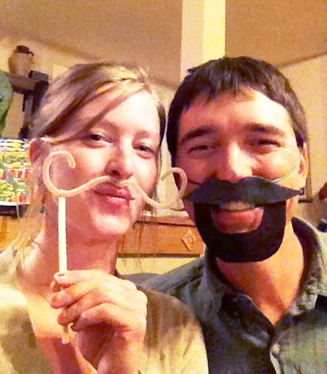 Jesse Lanci's girlfriend, Kate Graham, loves his mustache.