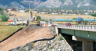 Gould Construction of Glenwood Springs began work last week on the new pedestrian bridge in New Castle that will link the south side of New Castle across the Colorado River to the north side of town.