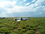 The single-engine Piper PA-46 that left Aspen on Wednesday is shown after it crashed in West Texas, killing three.