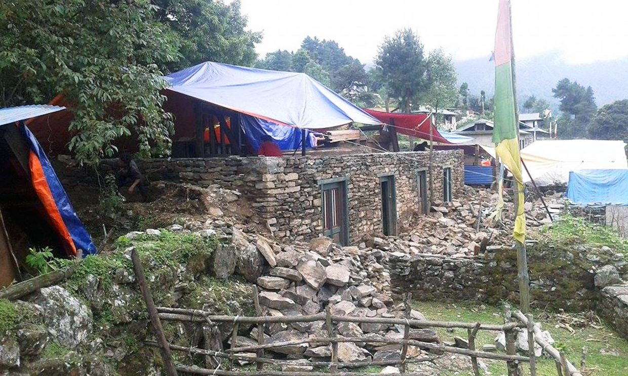 After this spring's devastating earthquakes, many Nepali people were forced to live under tarps during the monsoon season. Members of The Sherpa Foundation leave Monday to help with rebuilding efforts. You can still donate.