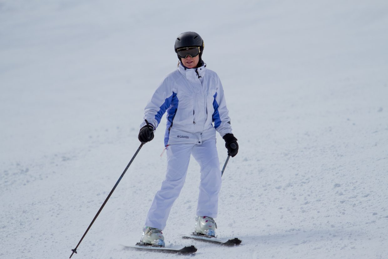 Amy Kowalsky from Jupiter, Florida spent the day hitting the slopes at Sunlight Mountain Resort on Friday.