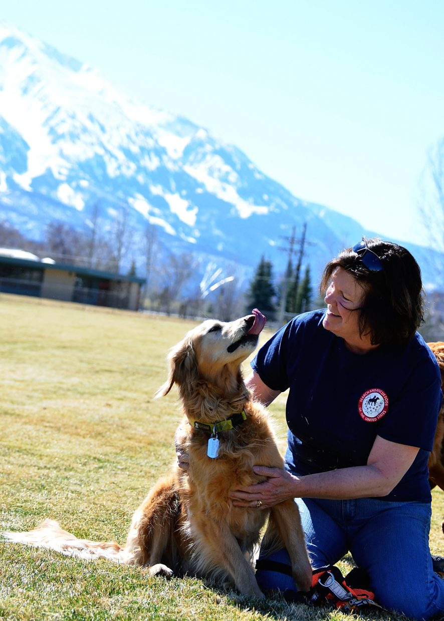 a Garfield County Search and Rescue dog