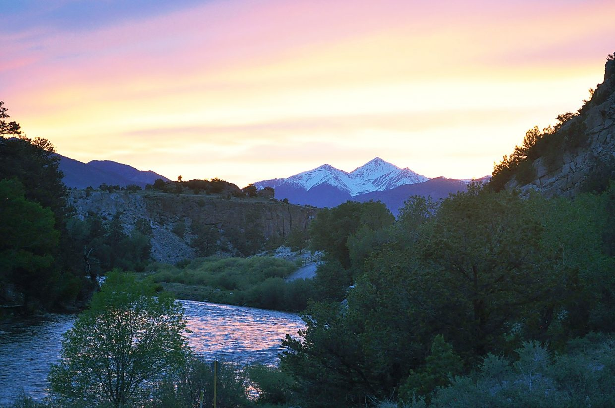 A gorgeous view from a campground in Buena Vista.