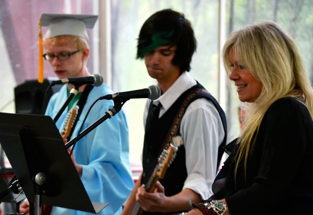 The Yampah Mounatin High School Music Ensemble played during commencement at the Glenwood Springs Community Center on Friday.
