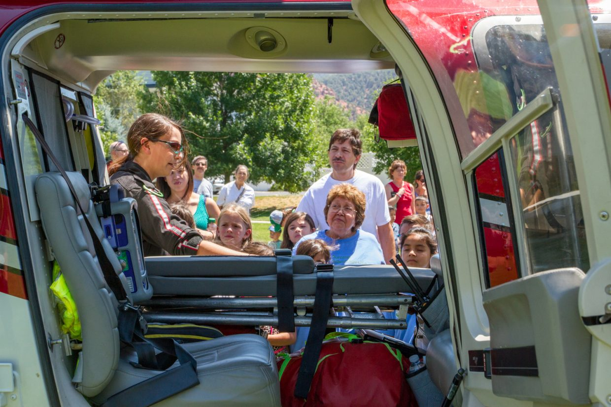 The students at Sopris Elementary's Summer Advantage camp got a surprise from Valley View Hospital's Classic Air Medical team during their last day of camp.