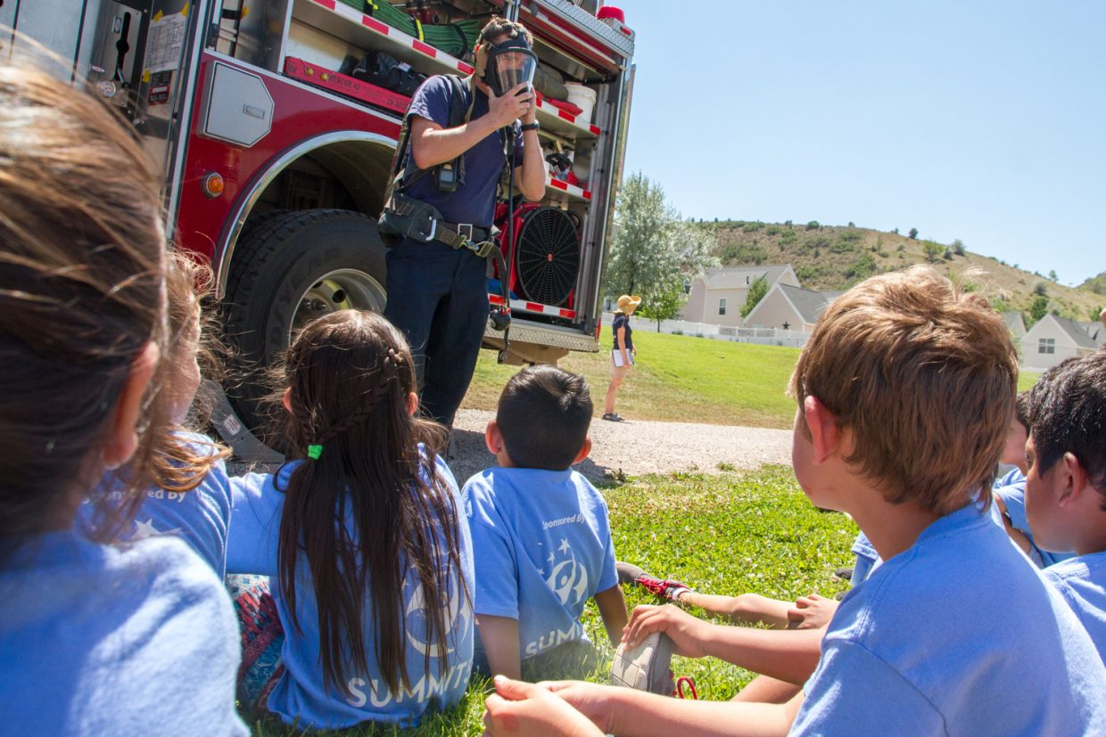 The Glenwood Springs Fire Department gave the kids a tour inside the ambulance and demonstrated what it is like to be a firefighter.