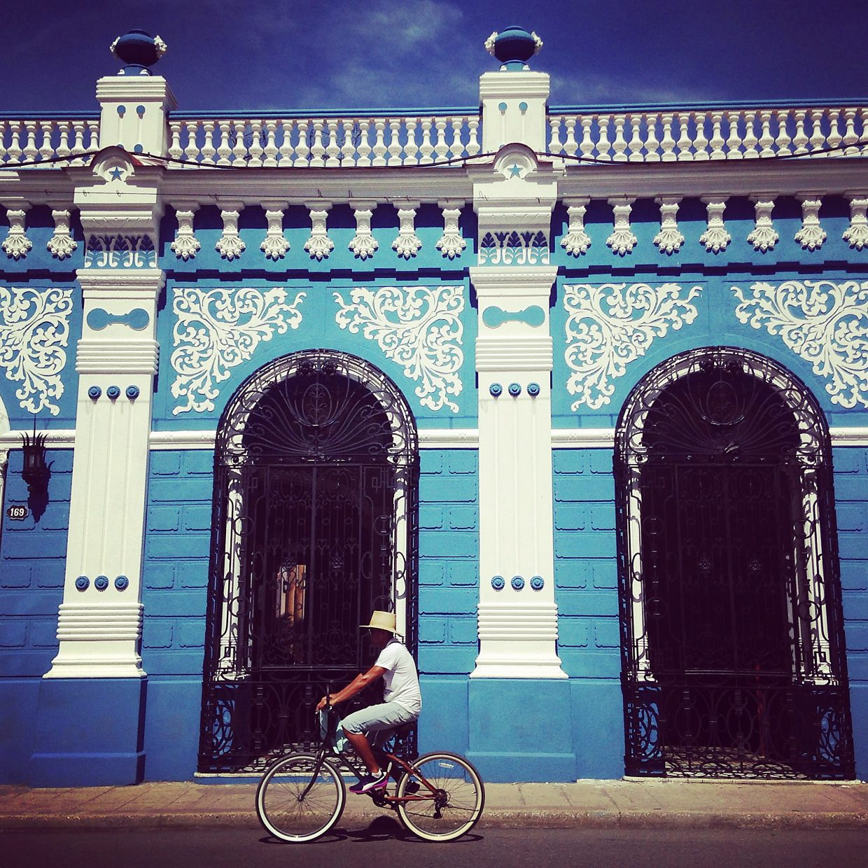 This is a restored colonial building in Camaguey.