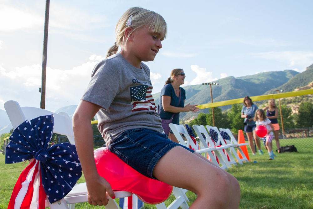 There were a wide variety of games that kids and adults could take part in ranging from a watermelon eating contest to three legged races.