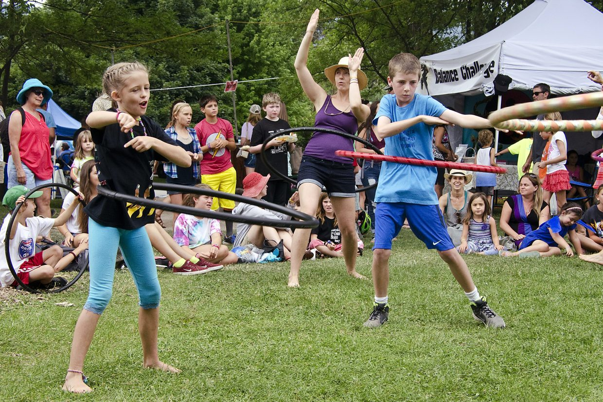 The hula hoop contest concludes with a dance-off.