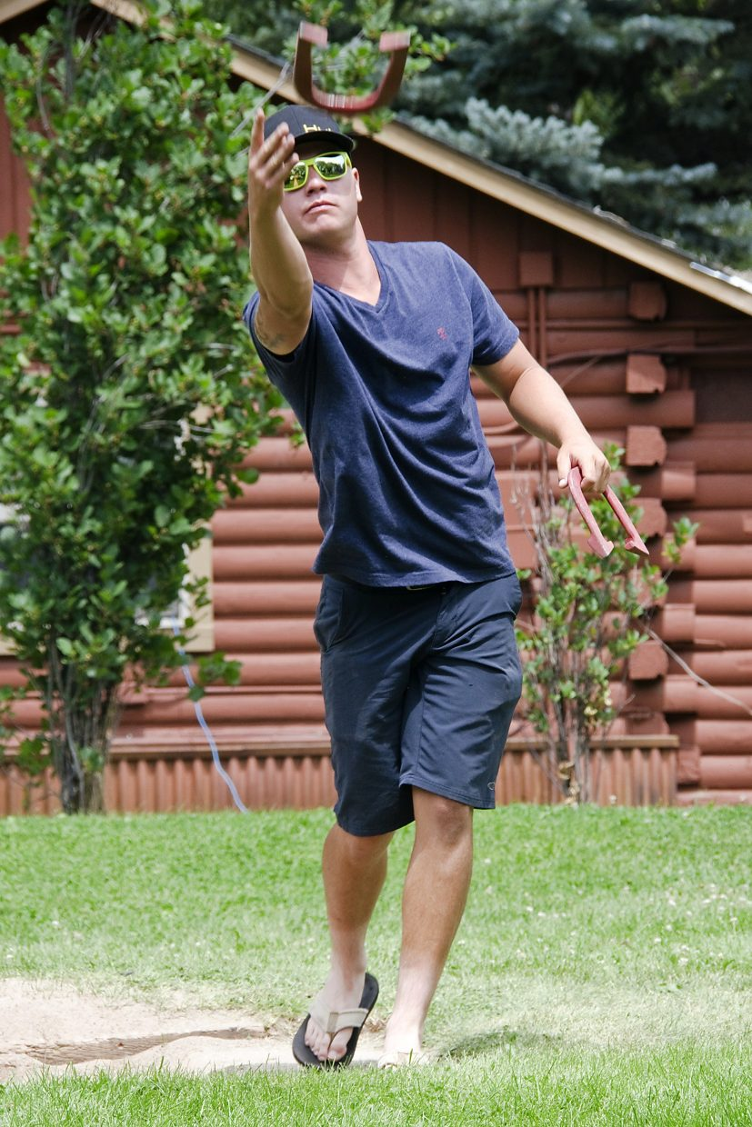 Singles and doubles horseshoes tournaments take place just down the road in Glassier Park.