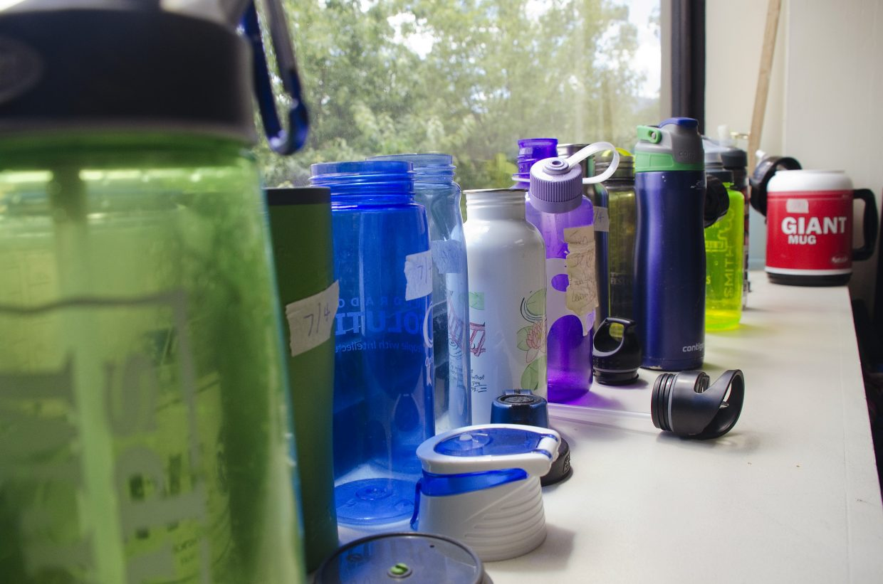 Water bottles are a common summer item.