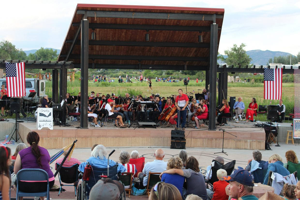 Symphony in the Valley performs in Centennial Park leading up to the July 3 fireworks display in Rifle.