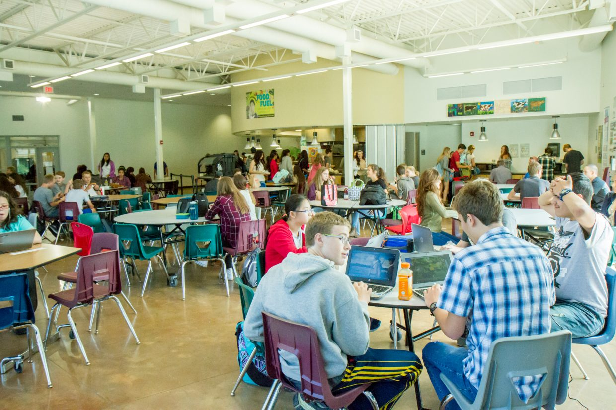 The GSHS cafeteria these days includes a mix of students who bring their lunch from home, buy school lunch or go off campus and bring food back to the school.