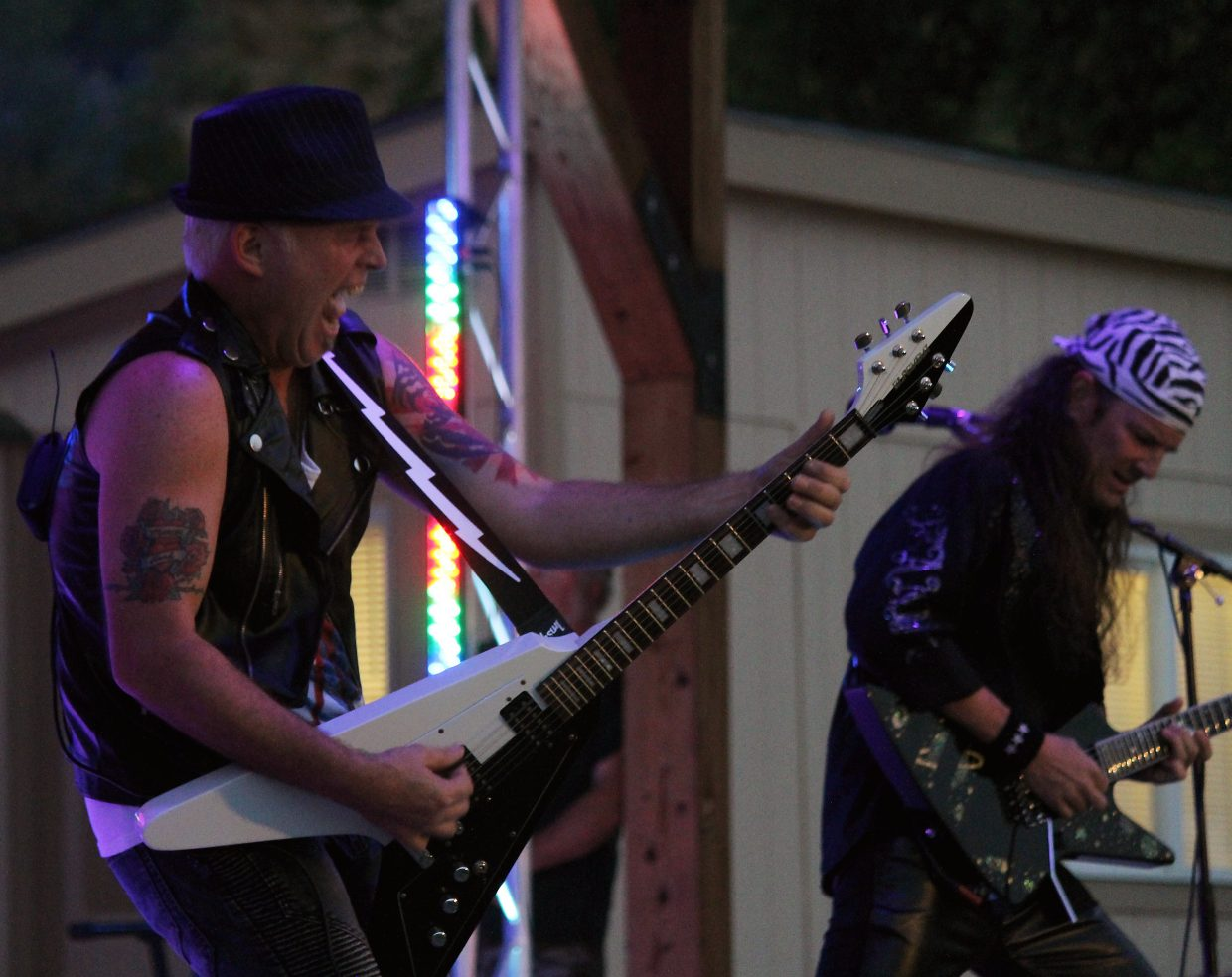Blackout, a Scorpions tribute band, tears through a setlist of the band's greatest hits Friday in SIlt.