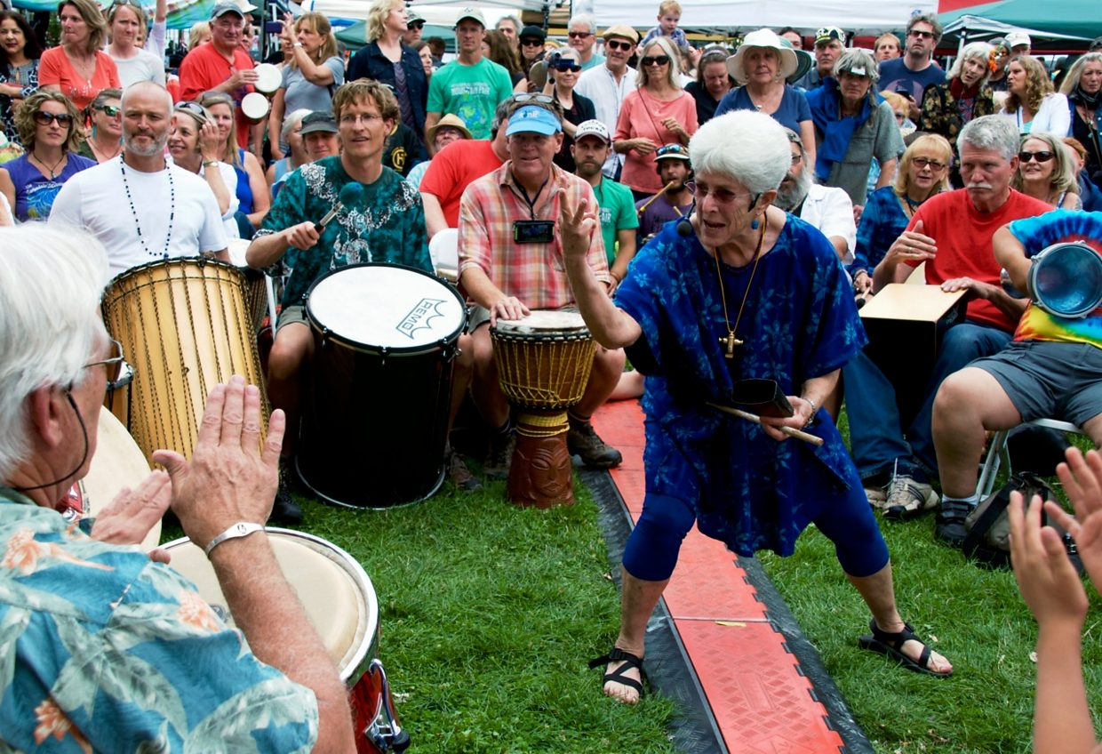 Laurie Loeb has been organizing the drum circle since its inception.