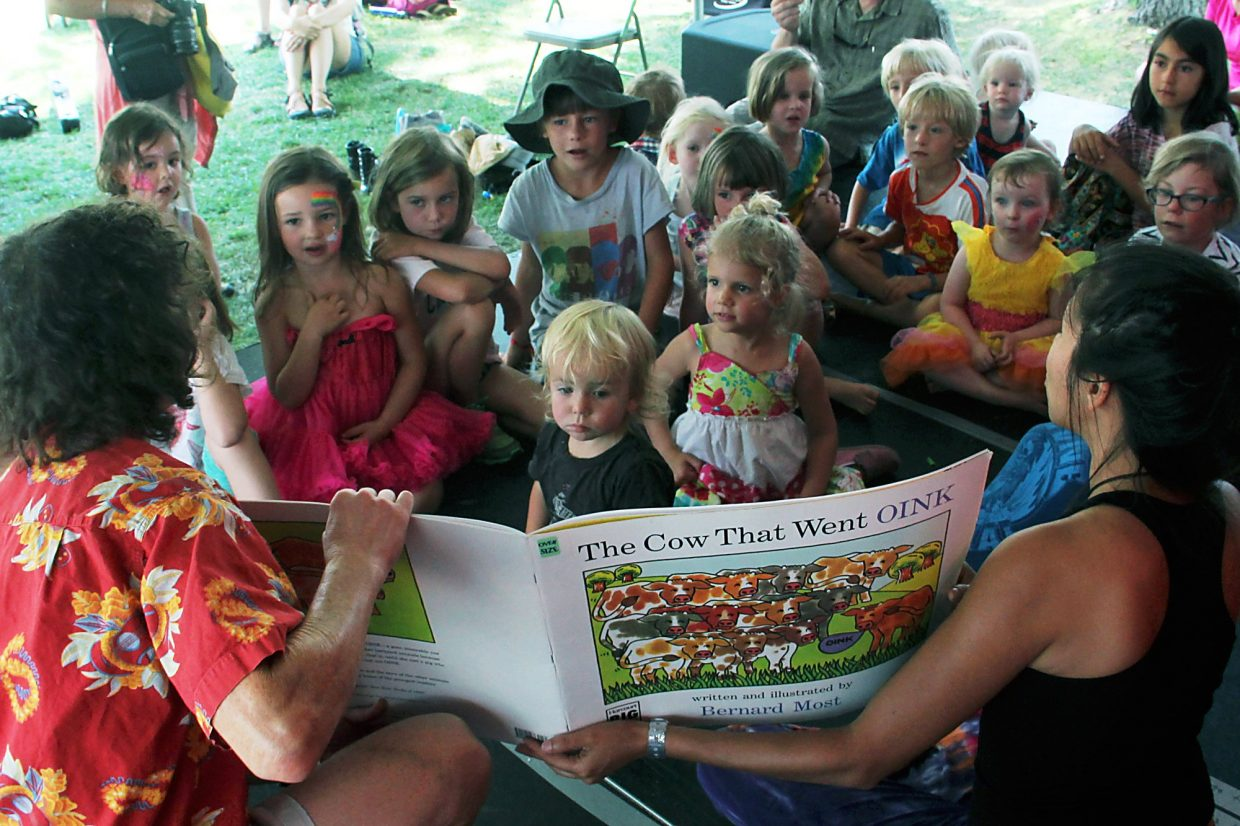 The Mountain Fair Oasis hosts myriad activities for kids of all ages, including story time on Sunday morning.