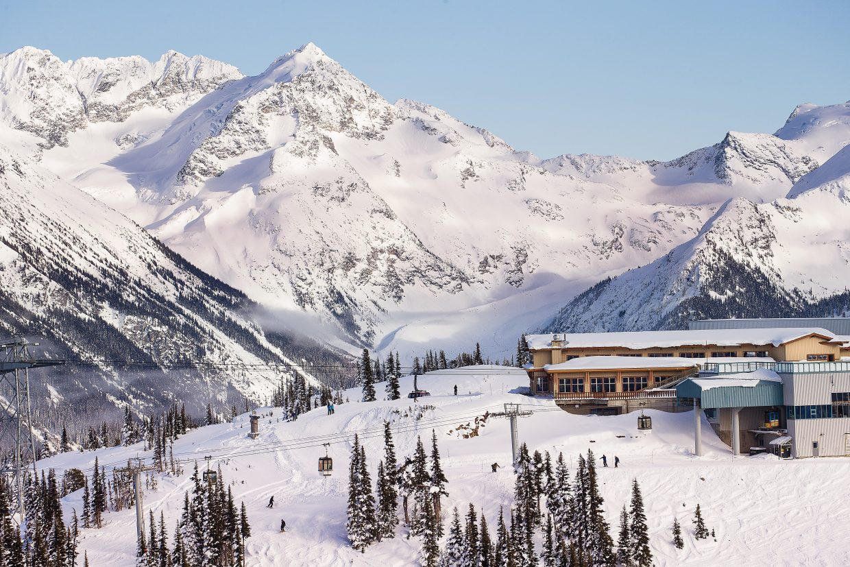 Whistler Blackcomb ski resort in British Columbia, Canada.