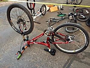 An apparently stolen bike found this month in Glenwood Springs.