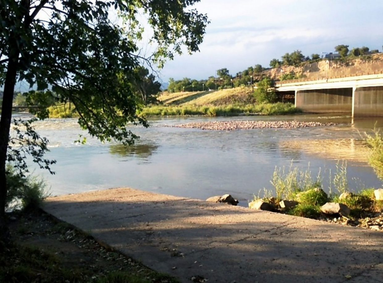 The existing Rifle boat ramp on the south side of the Colorado River will be demolished.