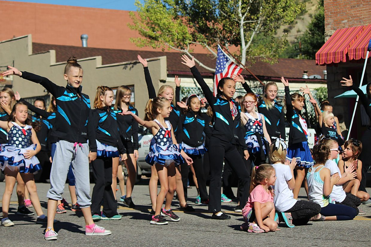 Full Throttle Dance Company performs in the annual Burning Mountain Festival parade.