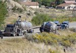 The Colorado 13 bypass just west of Rifle city limits was closed between Garfield County Road 244 and Railroad Avenue for approximately six hours Tuesday.