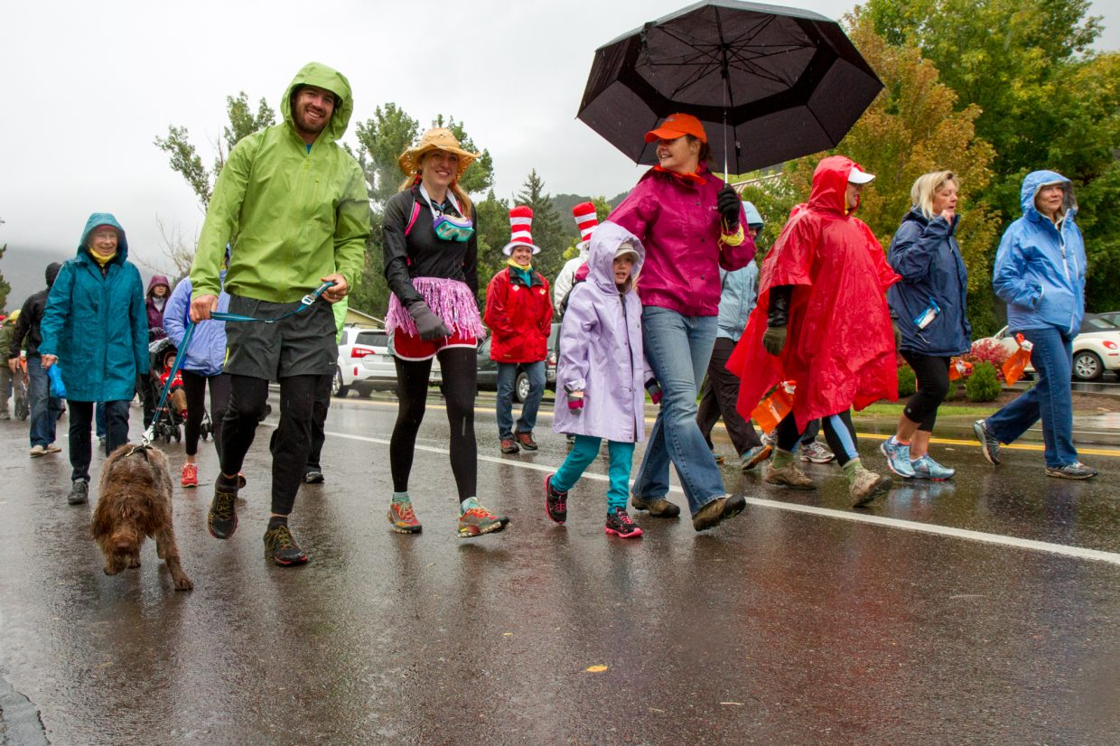 An estimated 400 participants took part in this year's Rally the Valley despite the very wet and cold conditions.