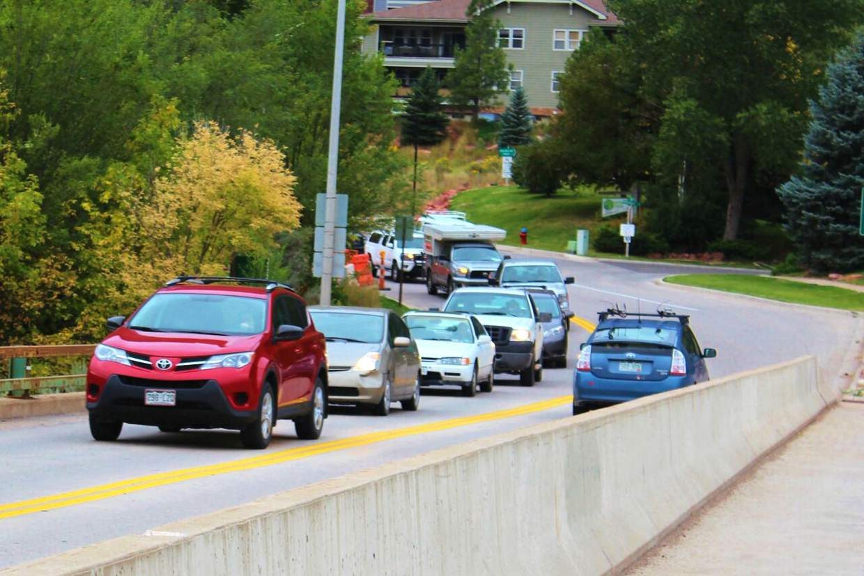 Among the projects that could see funding from a renewed Glenwood Springs acquisitions and improvements tax is a wider 27th Street bridge, where backups into the nearby roundabout are common during peak morning hours.