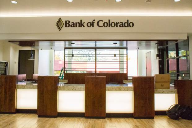 Bank of Colorado officially moved into its new building at the southwest corner of Ninth and Grand over the weekend, and was to be open for business in the first-floor lobby today.