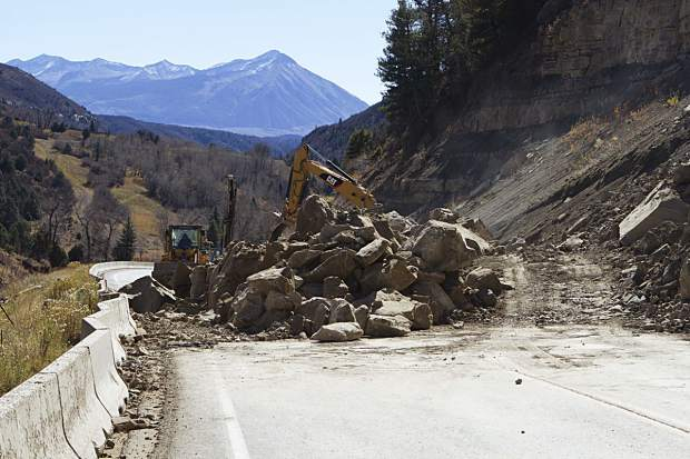 Colorado 133 Open After Rockslide