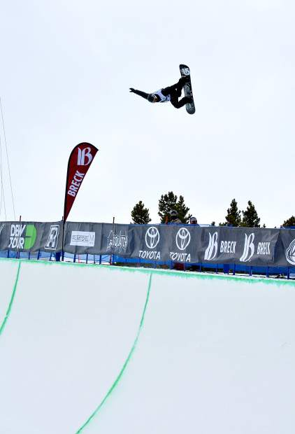 Shaun White tweaks a massive method on his first hit of the Dew Tour men's snowboard superpipe semifinal at Breckenridge in 2015. The event returns to Breckenridge with a new format Oct. 8-11.