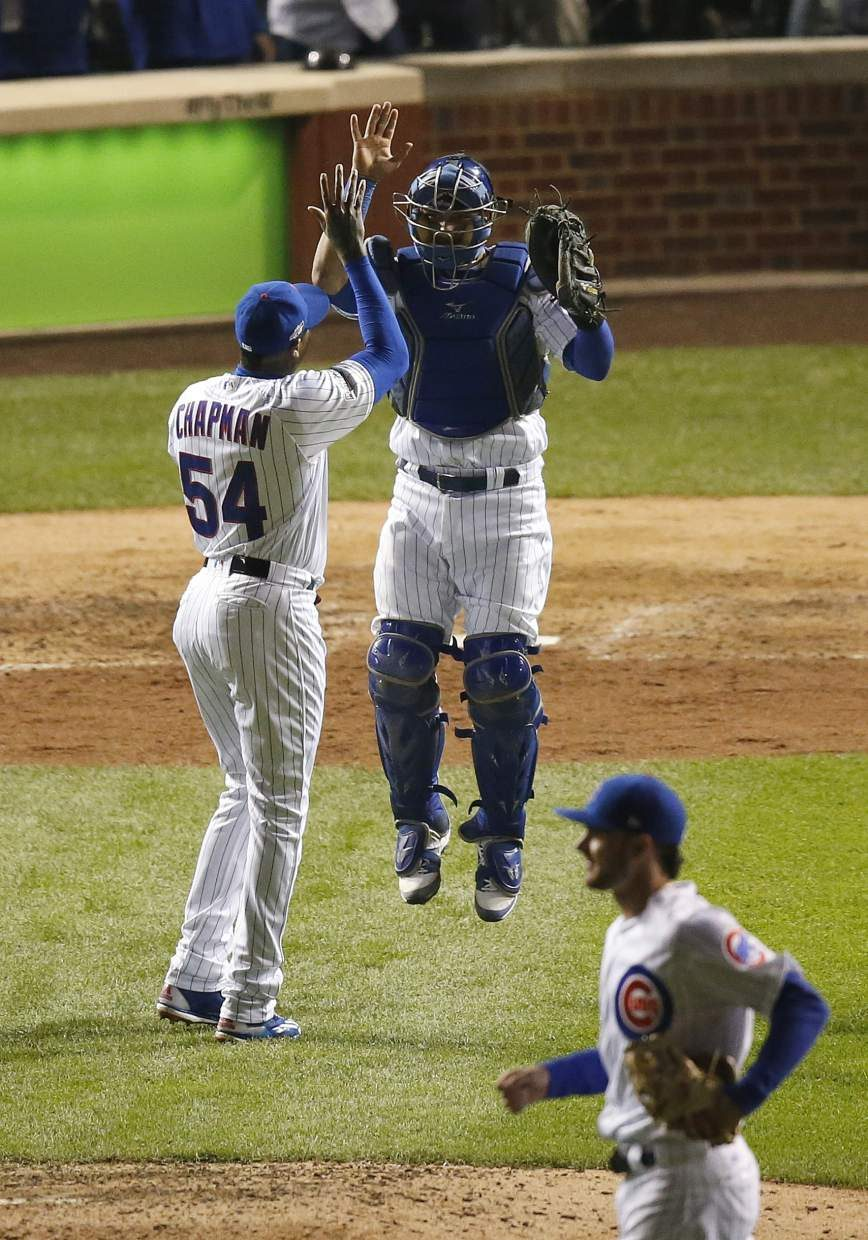Wood homers as Cubs beat Giants 5-2 for 2-0 NLDS lead
