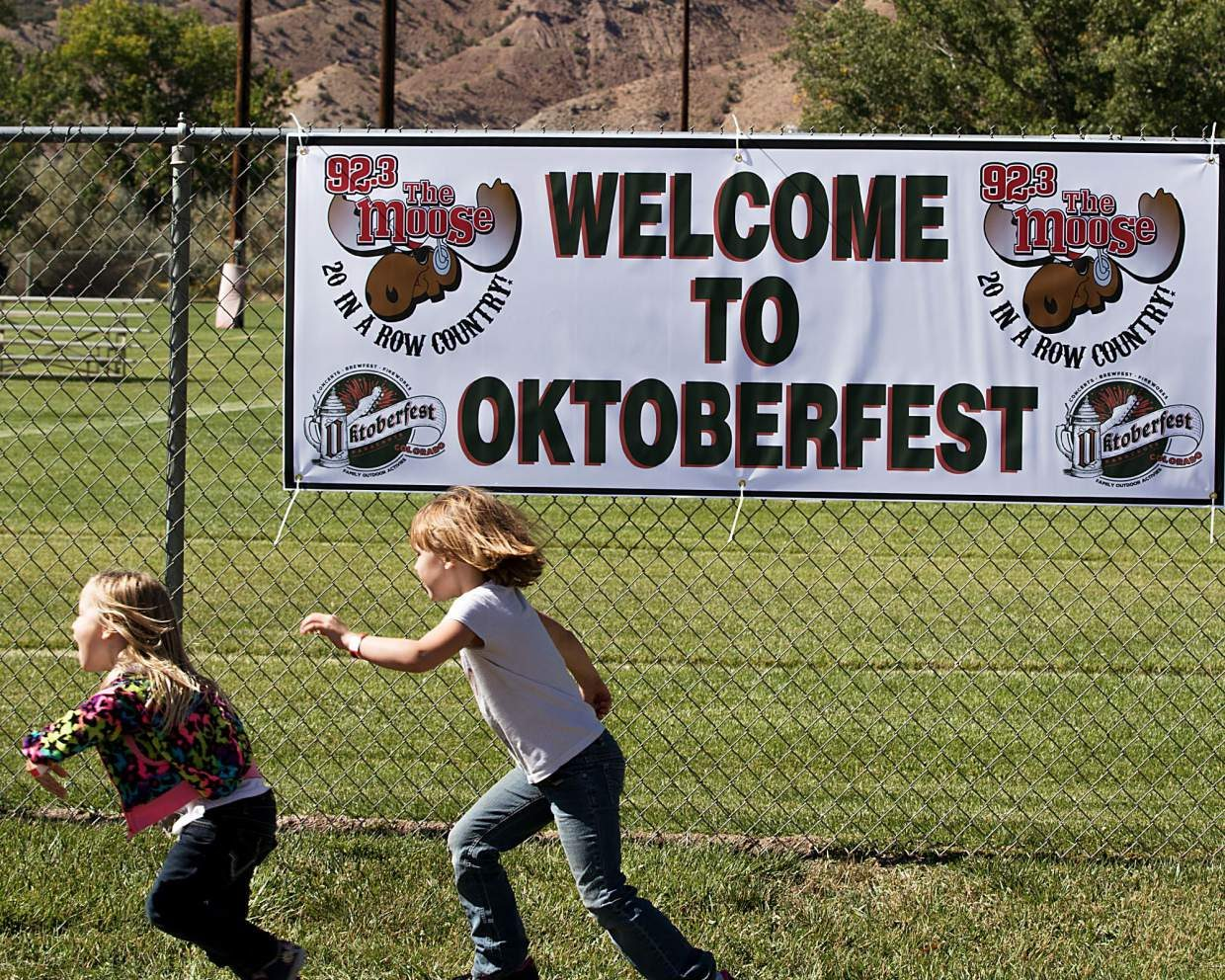 Young children play at the 2016 Parachute Oktoberfest Saturday, Oct. 1.