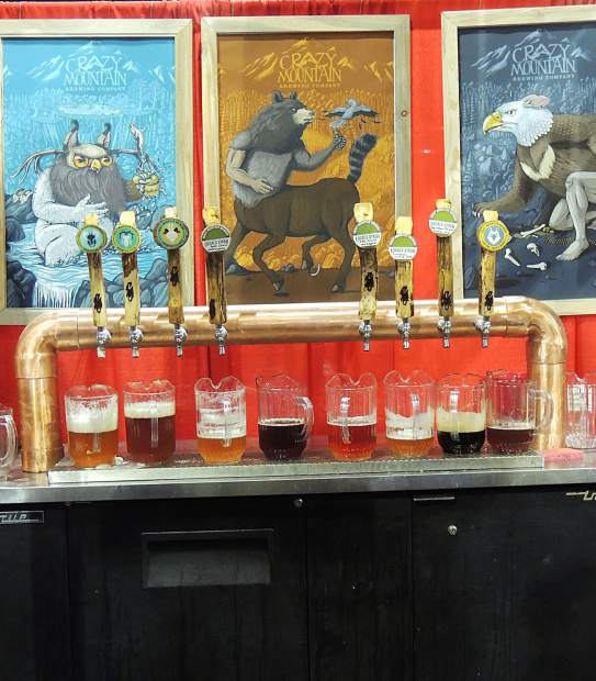 As a featured brewery at the Great American Beer Festival, Crazy Mountain Brewing Co., out of Edwards, poured a wide variety of beers for the thirsty crowds.