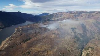 The Freeman Fire, above Ruedi Reservoir, is 338 acres and roughly 50 percent contained.