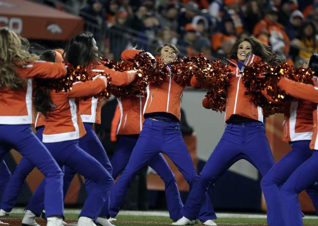 The Denver Broncos cheerleaders perform during the first half of an NFL football game against the Kansas City Chiefs, Sunday, Nov. 27, 2016, in Denver. (AP Photo/Jack Dempsey)