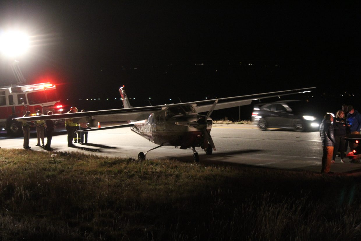 A small plane made an emergency landing on Interstate 70 near Rifle Monday evening.