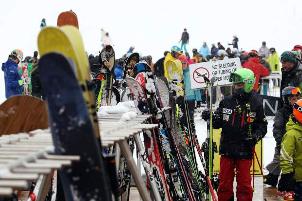 The base of Aspen Mountain was the place to be Sunday for opening day.