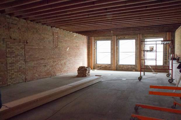 The now-empty second level of the 719 Grand Ave. building is being turned into two new residential apartments.